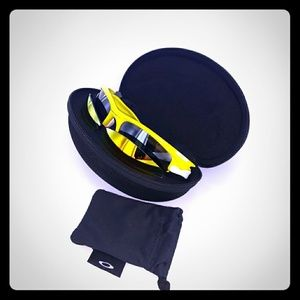 Oakley Fast Jacket in Yellow/White with 2 lenses